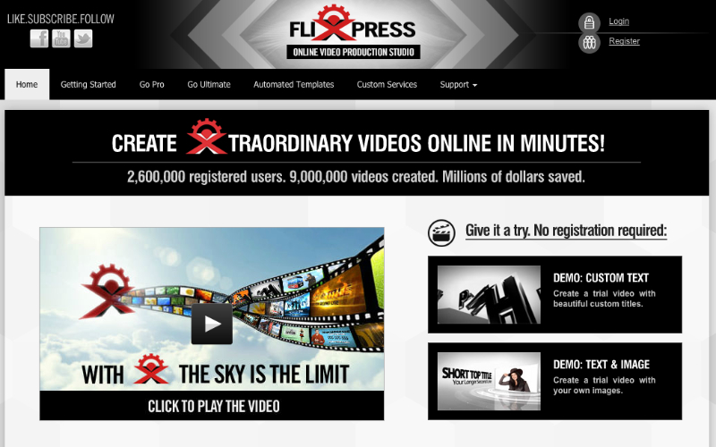 Online video creation studio - create high-end video and animation online