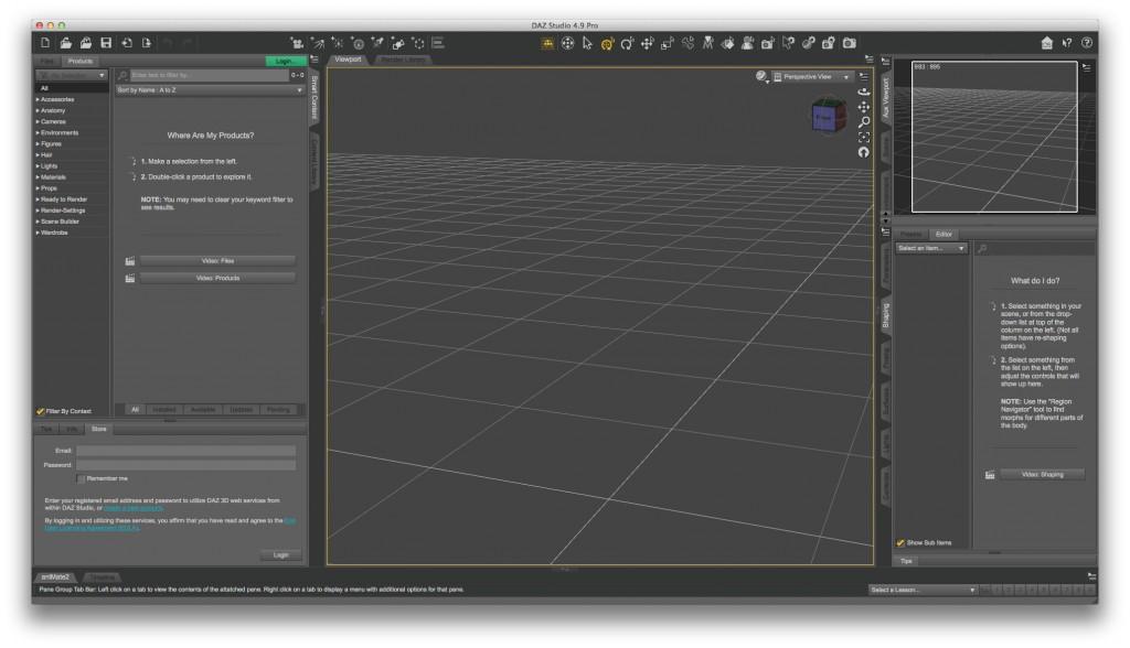 7.DAZ Studio 4.9編集画面