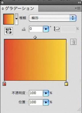 グラデーション赤黄
